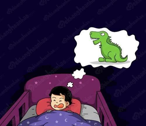 Nguyên nhân trẻ ngủ mơ ác mộng 1