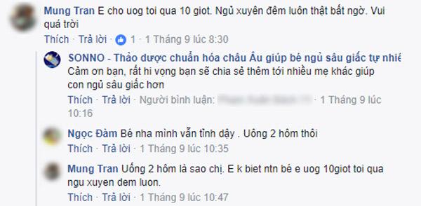 Mẹ có facebook là Mung Tran thoát được gần 1 năm thức trắng đêm do con ngủ hay giật mình, khóc đêm nhờ siro th� 1