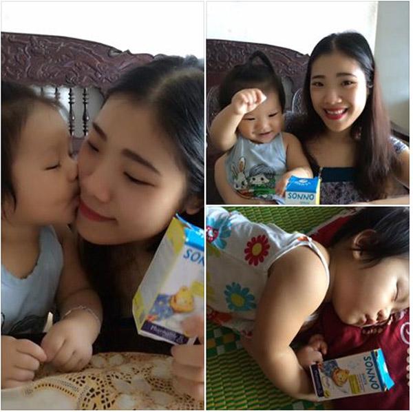 Mẹ Nguyễn Hoài Thu (tp.HCM) cũng chia sẻ trên facebook về tình trạng của con và giải pháp tuyệt vời từ siro thảo 1